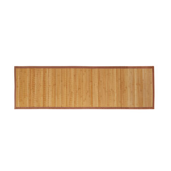 Solid colour bamboo kitchen mat