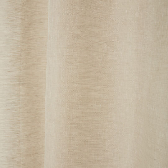 Solid colour 100% linen curtain