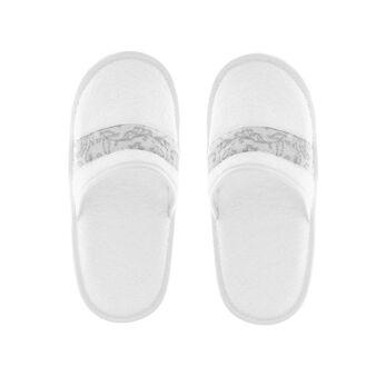 Portofino 100% cotton slippers with jacquard edging
