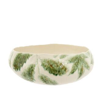 Insalatiera ceramica motivo foglie