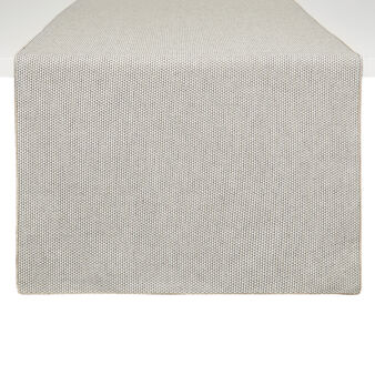 Spotted-effect cotton and lurex table runner