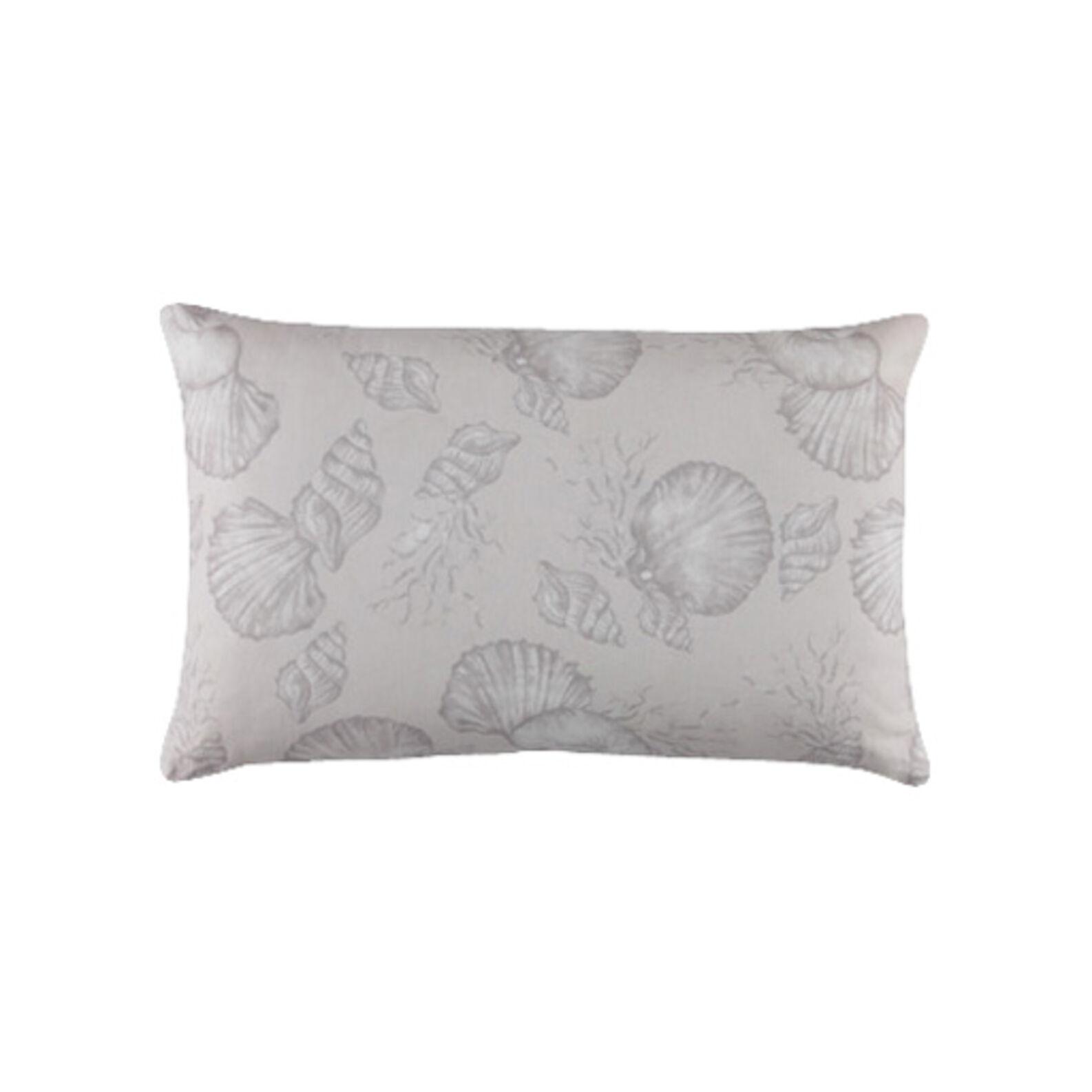 Cuscino puro cotone stampa conchiglie