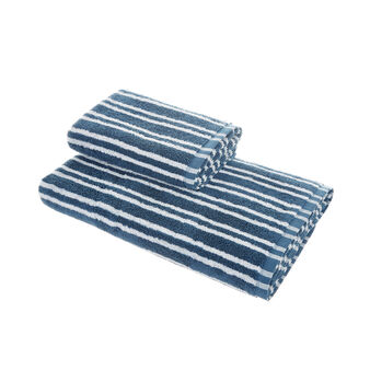 Set of 2 yarn-dyed towels in 100% cotton