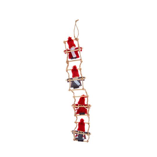 Scaletta decorativa con bamboline fatte a mano