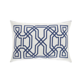 Jacquard cushion with Greek pattern
