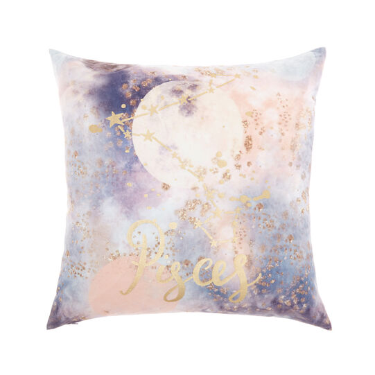 Cushion cover with Pisces print 45x45cm