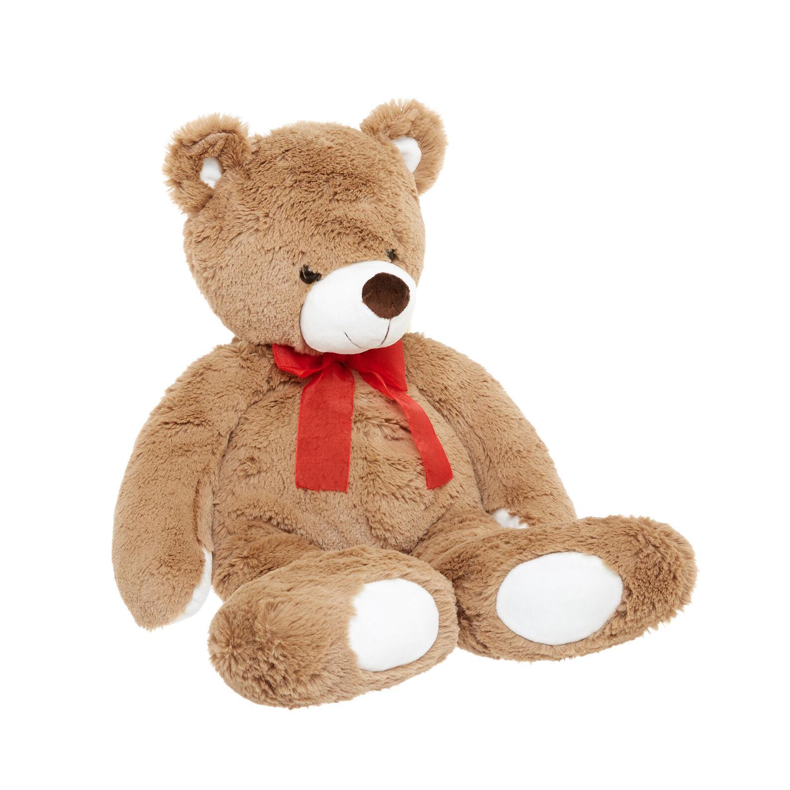 Brown teddy bear soft toy