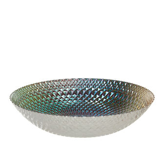 Glass bowl with rainbow effect