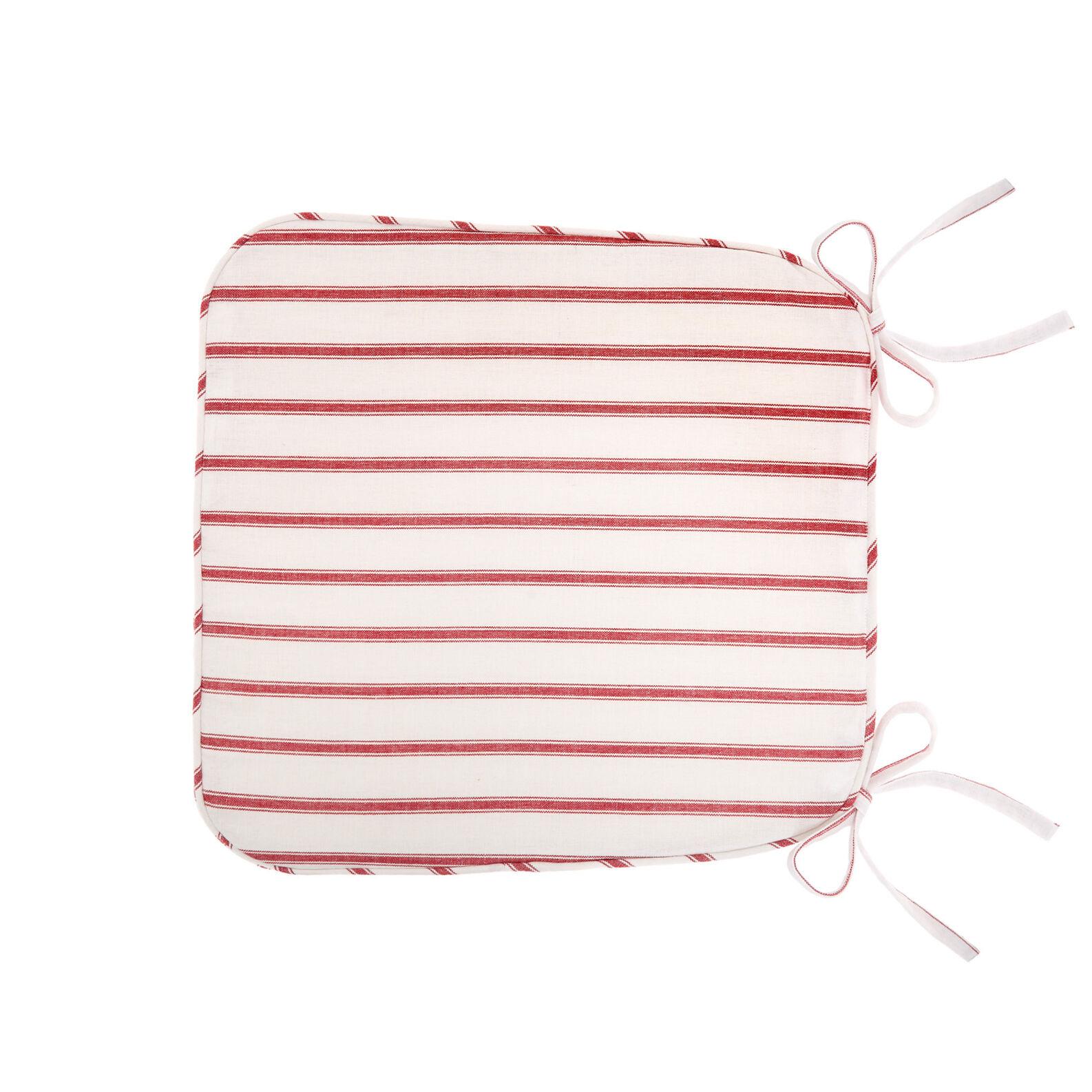 100% cotton striped kitchen seat pad