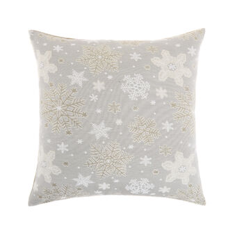 Jacquard cushion with Christmas motif 50x50cm