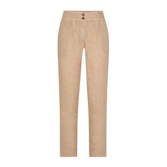 Pantalone in lino con cintura e pieghe Koan