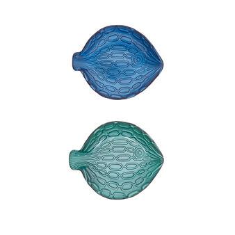 Piatto vetro a forma di pesce