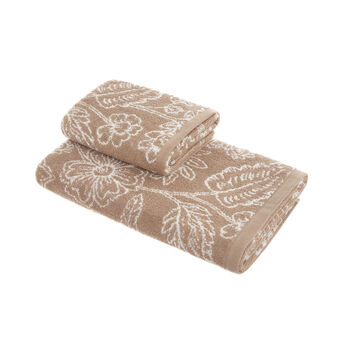 Asciugamano spugna di cotone fantasia floreale