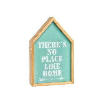 Light box casetta legno LED lettering There's No Place Like Home
