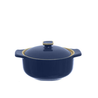 Stoneware mini saucepan with rim