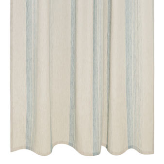 Linen blend curtain with faded stripes and hidden loops