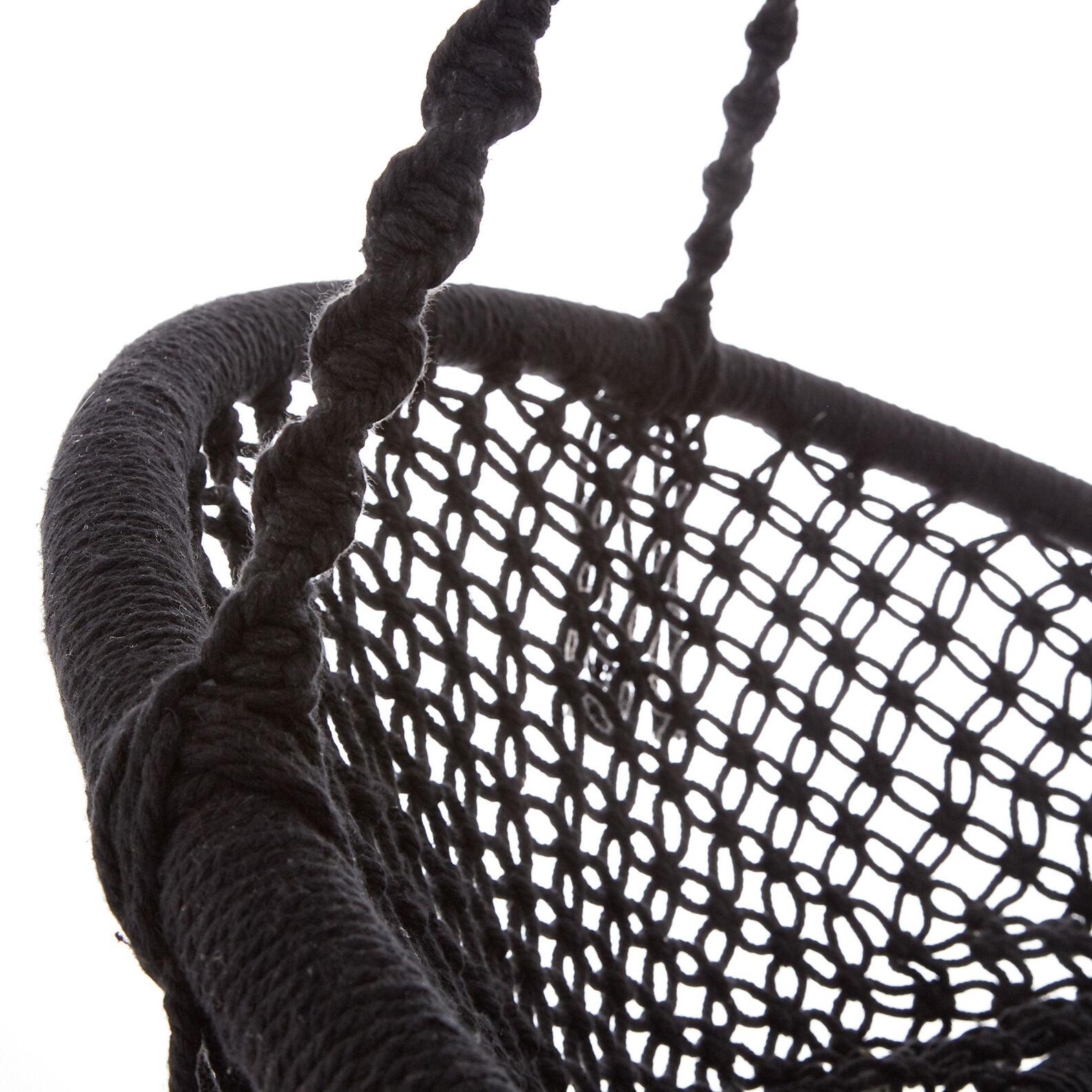 Amaca in corda di cotone con frange tinta unita