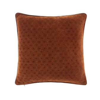 Geometric pattern velvet cushion