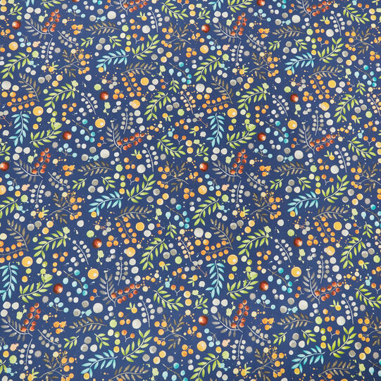 Water-repellent cotton twill table cloth with flowers print