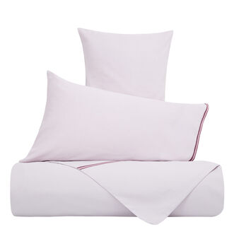 Solid colour bed sheet set in linen blend