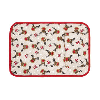 Breakfast set in 100% cotton with Rudolph print