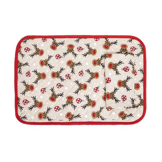 Set colazione puro cotone stampa Rudolph