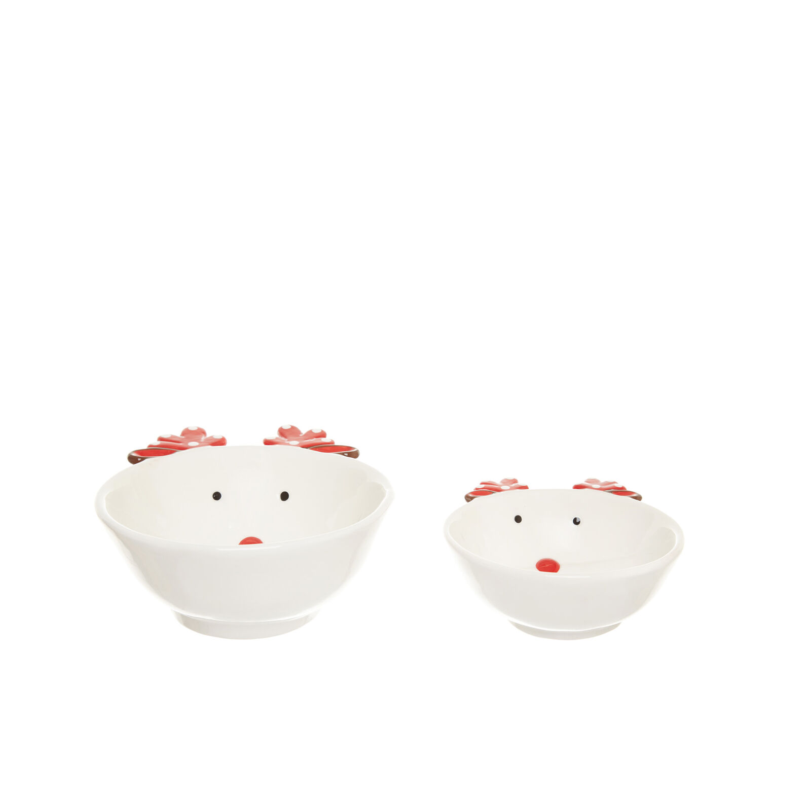 Small ceramic bowl with reindeer decoration