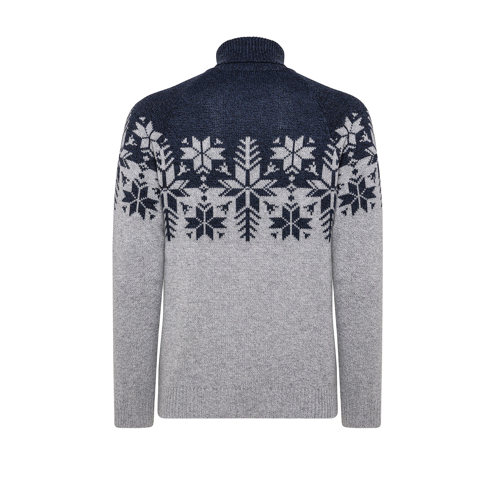 Christmas motif pullover with high neck