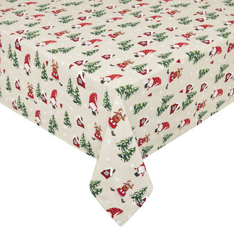 Tovaglia puro cotone stampa natalizia