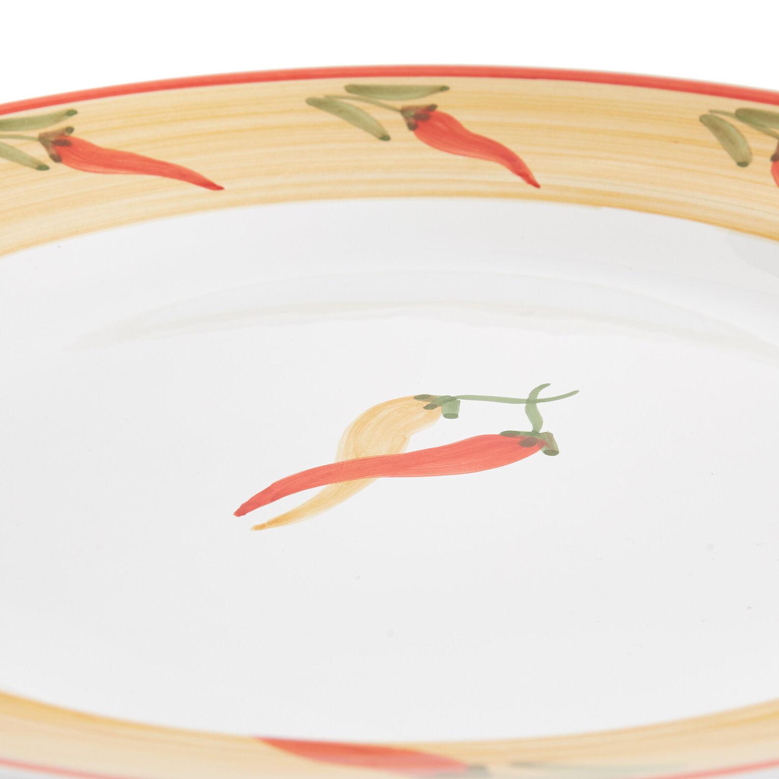Serving dish with pepper decoration by Ceramiche Siciliane Ruggeri