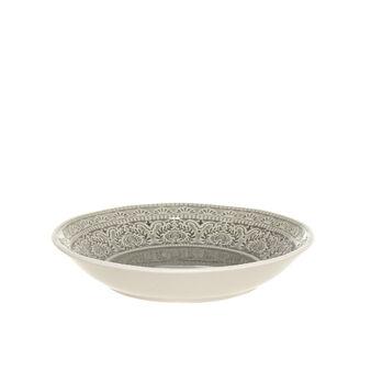Flora stoneware soup plate