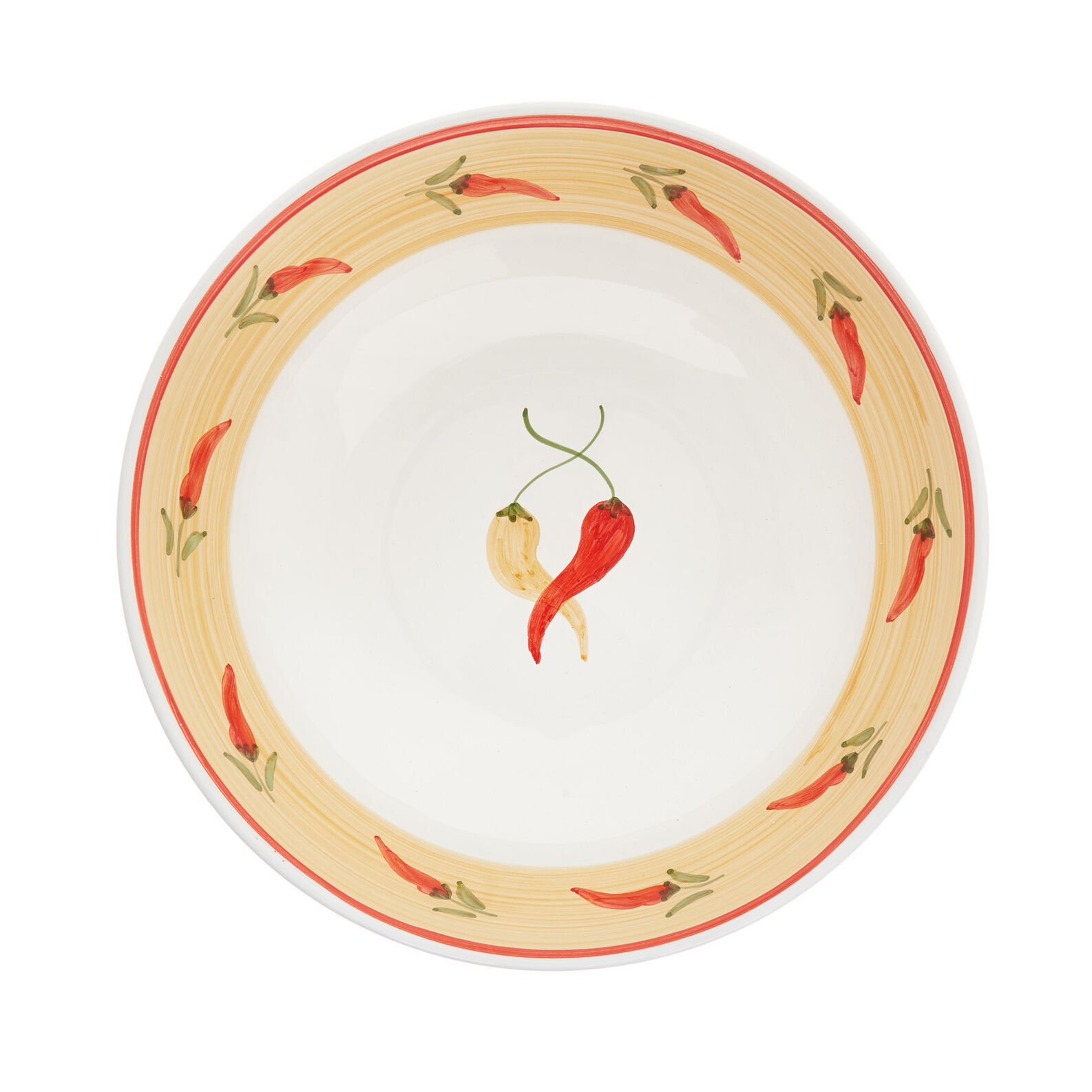 Coppa decoro peperoncino by Ceramiche Siciliane Ruggeri