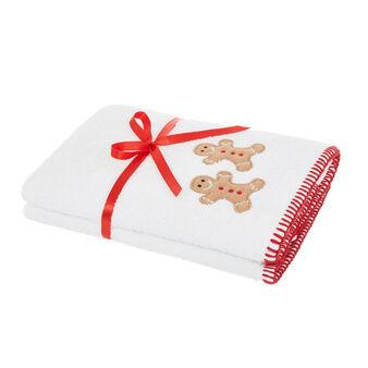 Set 2 asciugamani ricamo gingerbread