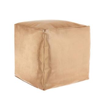 Metallic fabric pouf