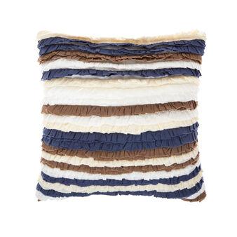 Cotton cushion with frills 45x45cm