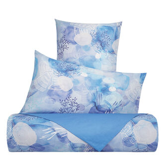 Cotton muslin duvet cover with jellyfish pattern