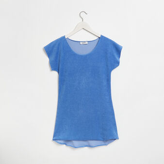 Solid colour terry t-shirt