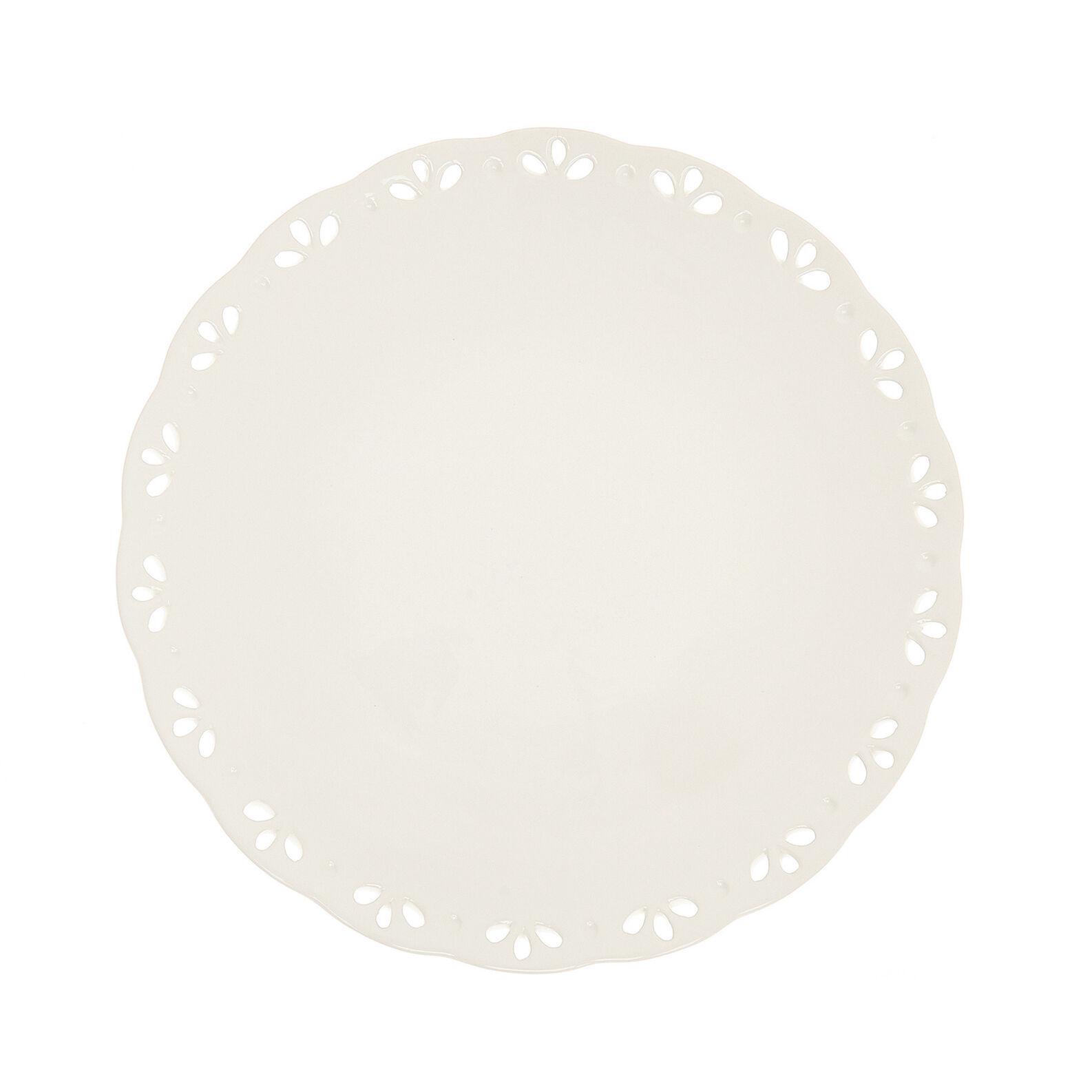 Piatto tondo ceramica traforata