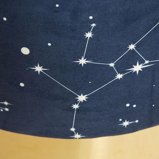 Pouf in velluto stampato Constellation