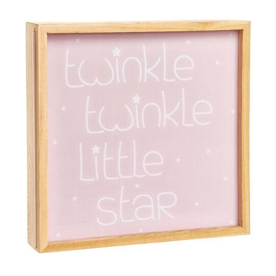 Light box legno LED lettering Twinkle Twinkle Little Star