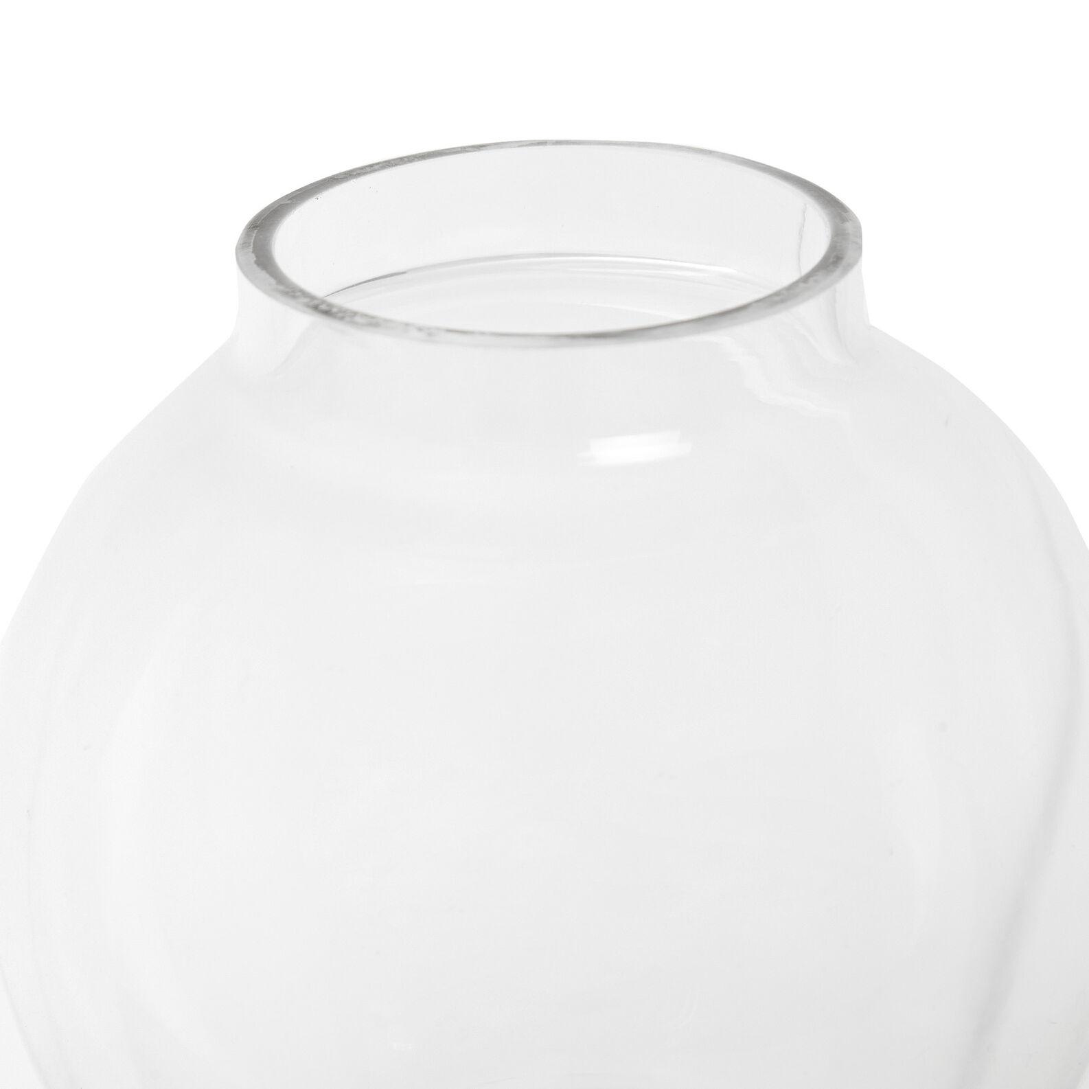 Vaso vetro con fondo argento
