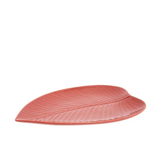 Leaf-shaped new bone China plate