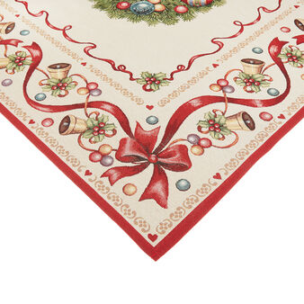Gobelin fabric table cover with Christmas motif