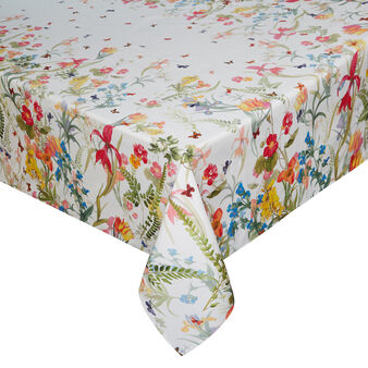 Floral tablecloth in 100% cotton