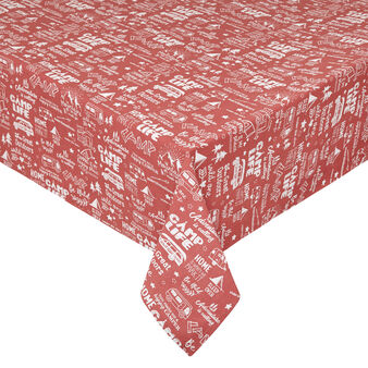 100% cotton tablecloth with camping print