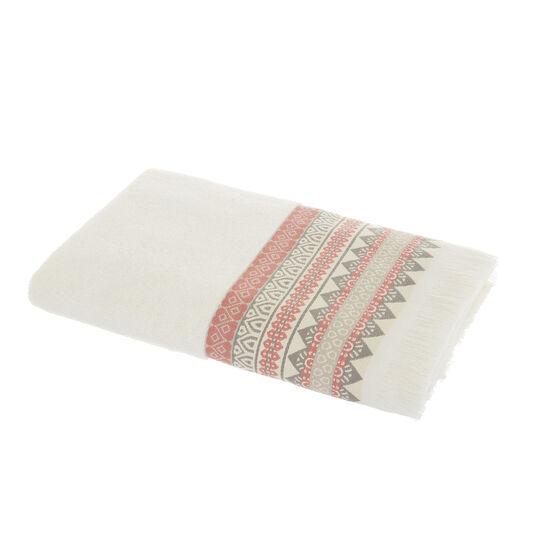 Asciugamano puro cotone bordo jacquard
