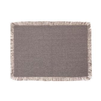 Tovaglietta in cotone con bordi sfrangiati