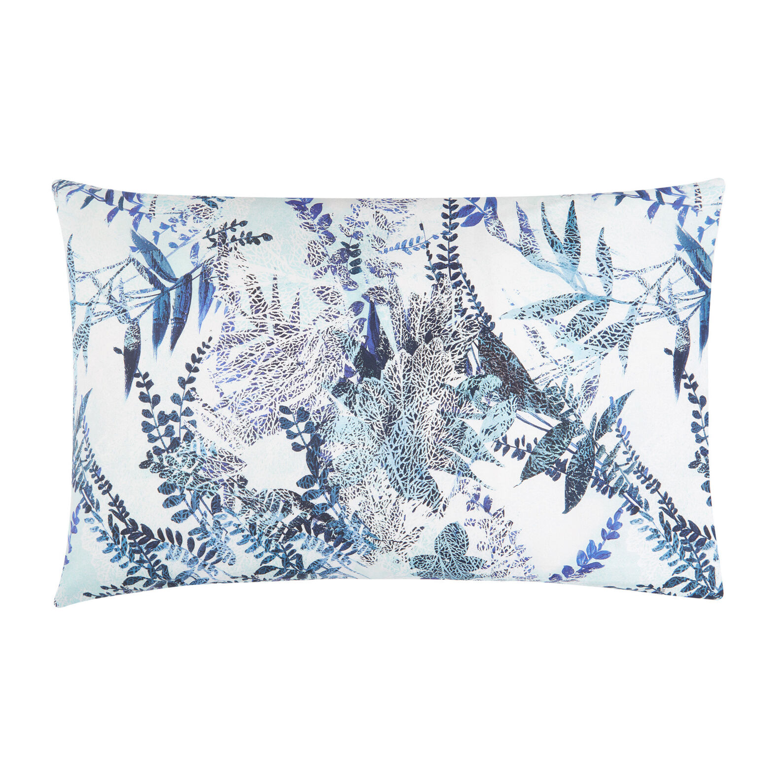 Organic cotton pillowcase with leaf pattern