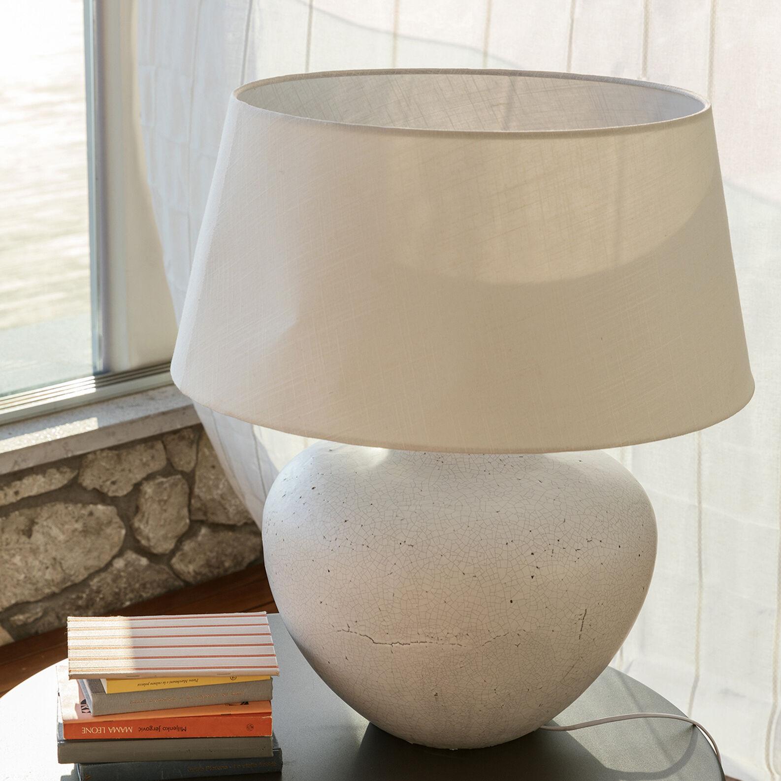 Big ceramic table lamp