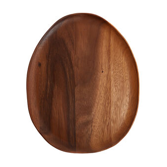 Oval acacia wood charger plate